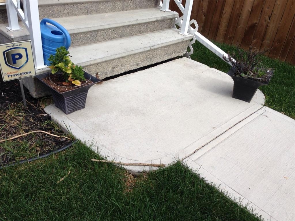 Concrete Lifting and Leveling in Calgary, Alberta - Before Photo
