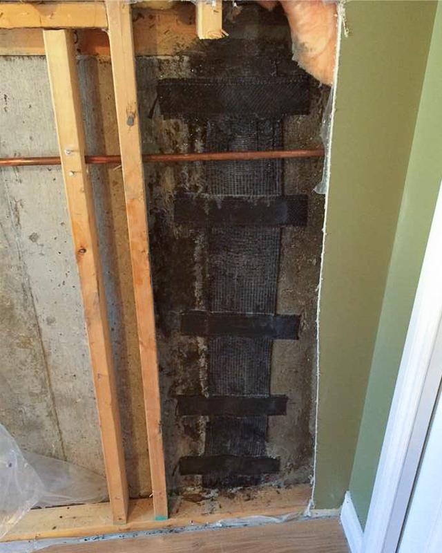 Basement Crack Repair in Calgary, AB - After Photo