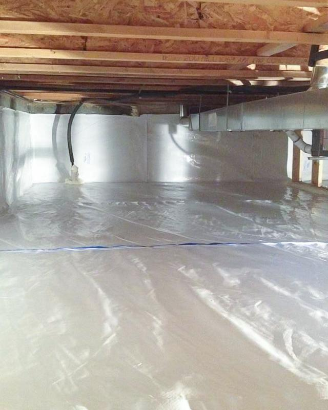 Encapsulating a Crawl Space in Lundbreck, AB - After Photo