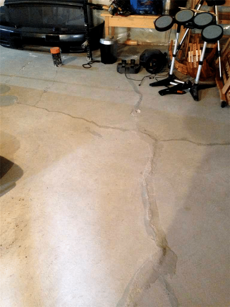 Floor Replacement in Langdon, Alberta - Before Photo