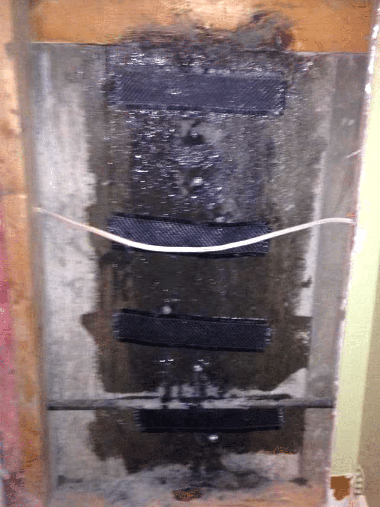 A Crack Repair with our CarbonArmor® System in SE Calgary, Alberta - After Photo