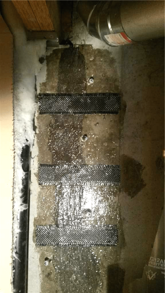 Crack Repair with a Polyurethane Resin Injection and CarbonArmor® Stitches in SE Calgary, AB - After Photo