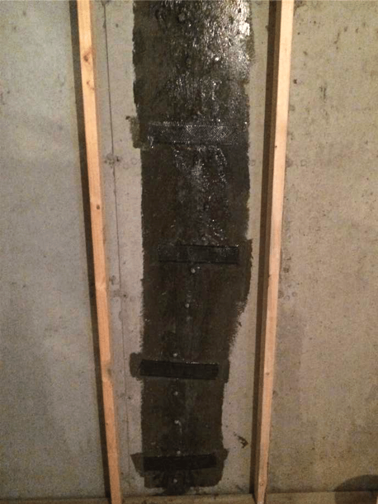 Fixing a Leaking Crack in NE Calgary, AB - After Photo