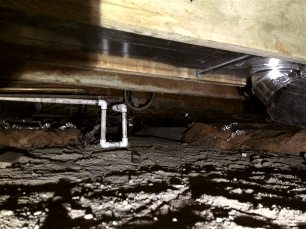 Crawl Space Repair in Raymond, AB - Before Photo
