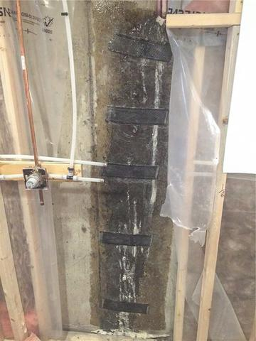 Replacing a Failed DIY Crack Repair in Calgary, AB