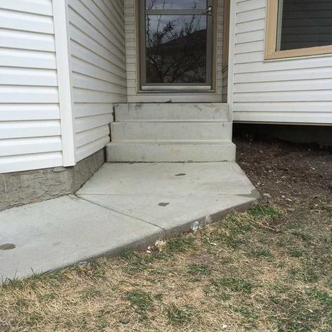 Leveling a Front Walkway in High River, AB