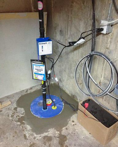 Sump Pump Upgrade in Strathmore, AB