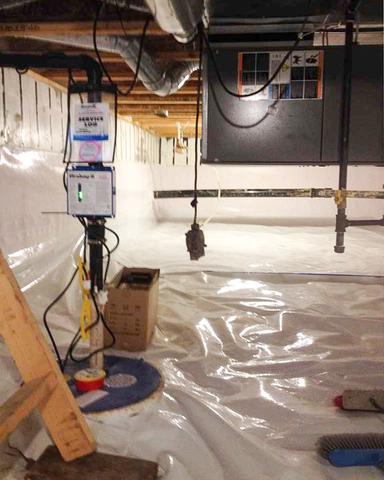 Buffalo Sands, AB Crawl Space Encapsulation