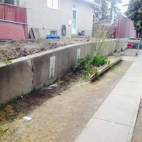 Stabilizing a Retaining Wall in Calgary, AB