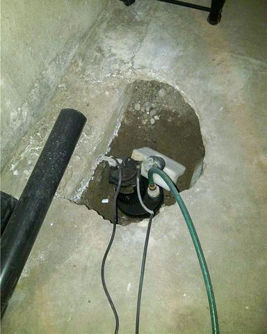 Upgrading a Sump Pump System in Sedalia, AB