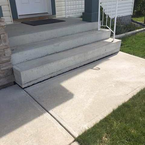 Lifting a Concrete Walkway in Langdon, AB