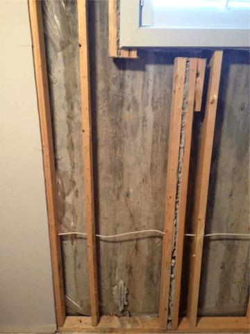 CarbonArmor® Stitching Crack Repair in Chestermere, AB - Before Photo