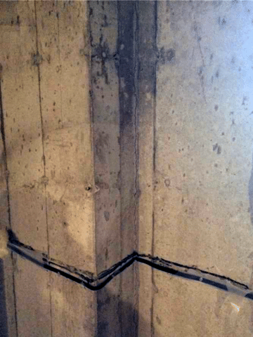 Foundation Crack Injected and Stitched in Airdrie, AB