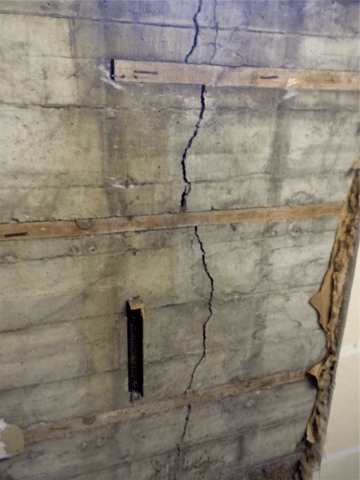 Foundation Wall Cracked of a Church in NW Calgary, AB
