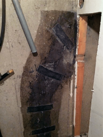 Crack Found and Repaired in Foundation Wall in NW Calgary, AB