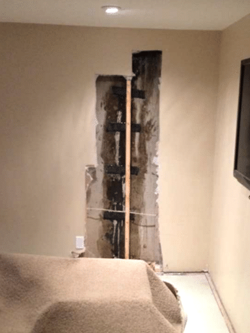 Basement in Home in Need of Crack Repair in SW Calgary, AB