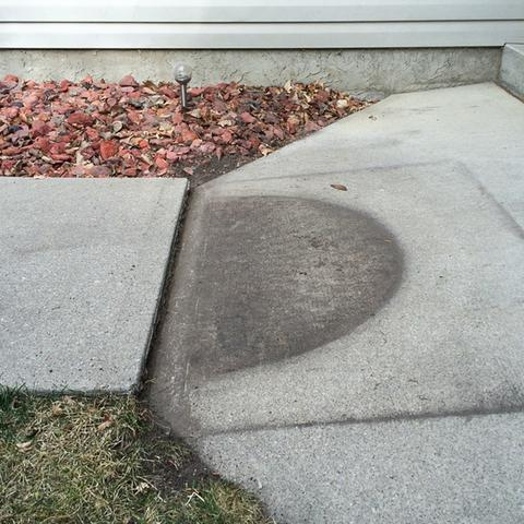 Leveling a Front Walkway in SW Calgary, AB