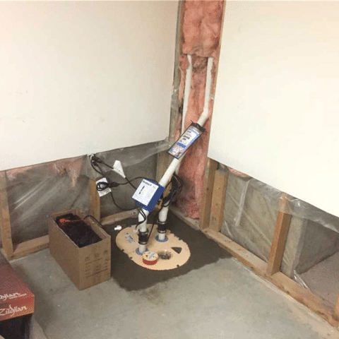 Basement Flood Results in a Sump System Install in NW Calgary, AB