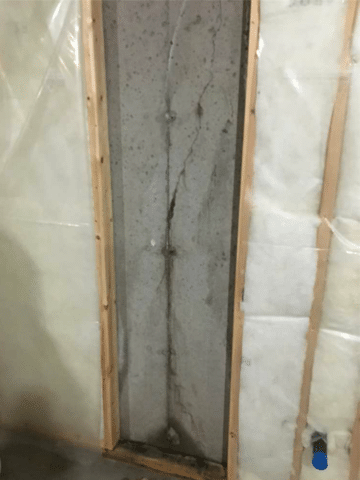 Leaking Crack Repaired with Polyurethane Injection in SW Calgary, AB