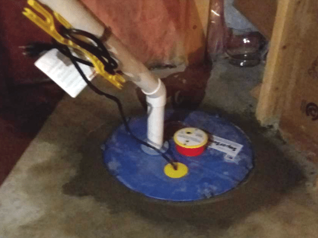Sump Pump Rough in utilized with New SuperSump Pump in Airdrie, AB