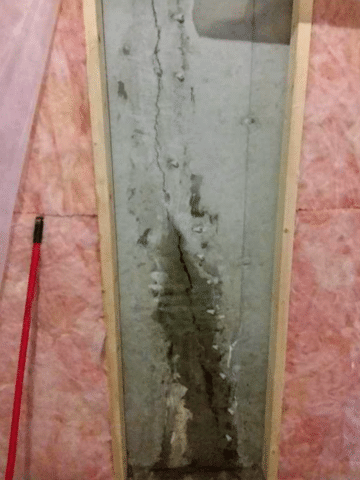 Leaking Crack in Foundation Repaired in Black Diamond, AB