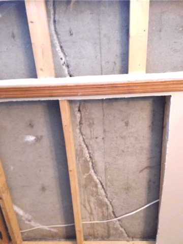 Repaired Crack Stops Water from Leaking into a Home in SE Calgary, AB