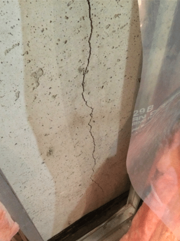 Crack Repaired in Basement Foundation in SE Calgary, AB