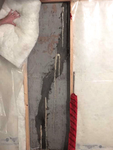 Previously Injected Foundation Crack Repaired the Right Way in SW Calgary, AB