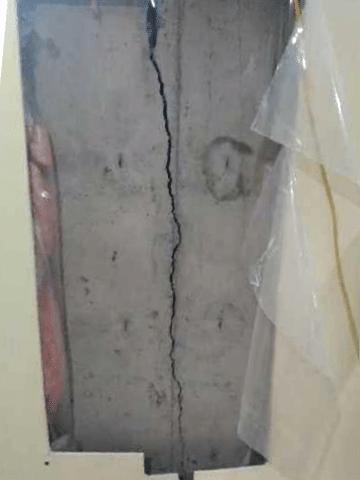 Crack in Foundation Repaired in Black Diamond, AB
