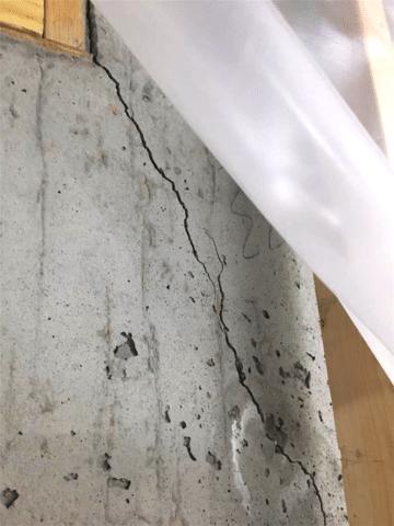 Basement Foundation Crack in SE Calgary, AB