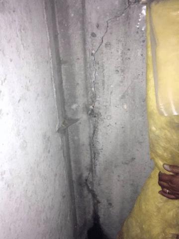 Foundation Crack Leaking in Okotoks, AB