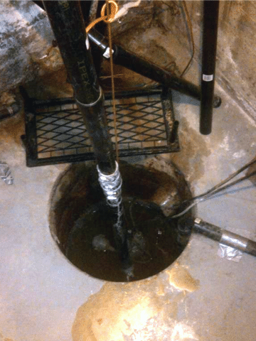 Old Sump Pump Upgraded in Brooks, AB