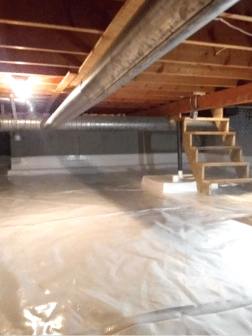 Vapor Barrier Installed in Crawlspace in Calgary, AB