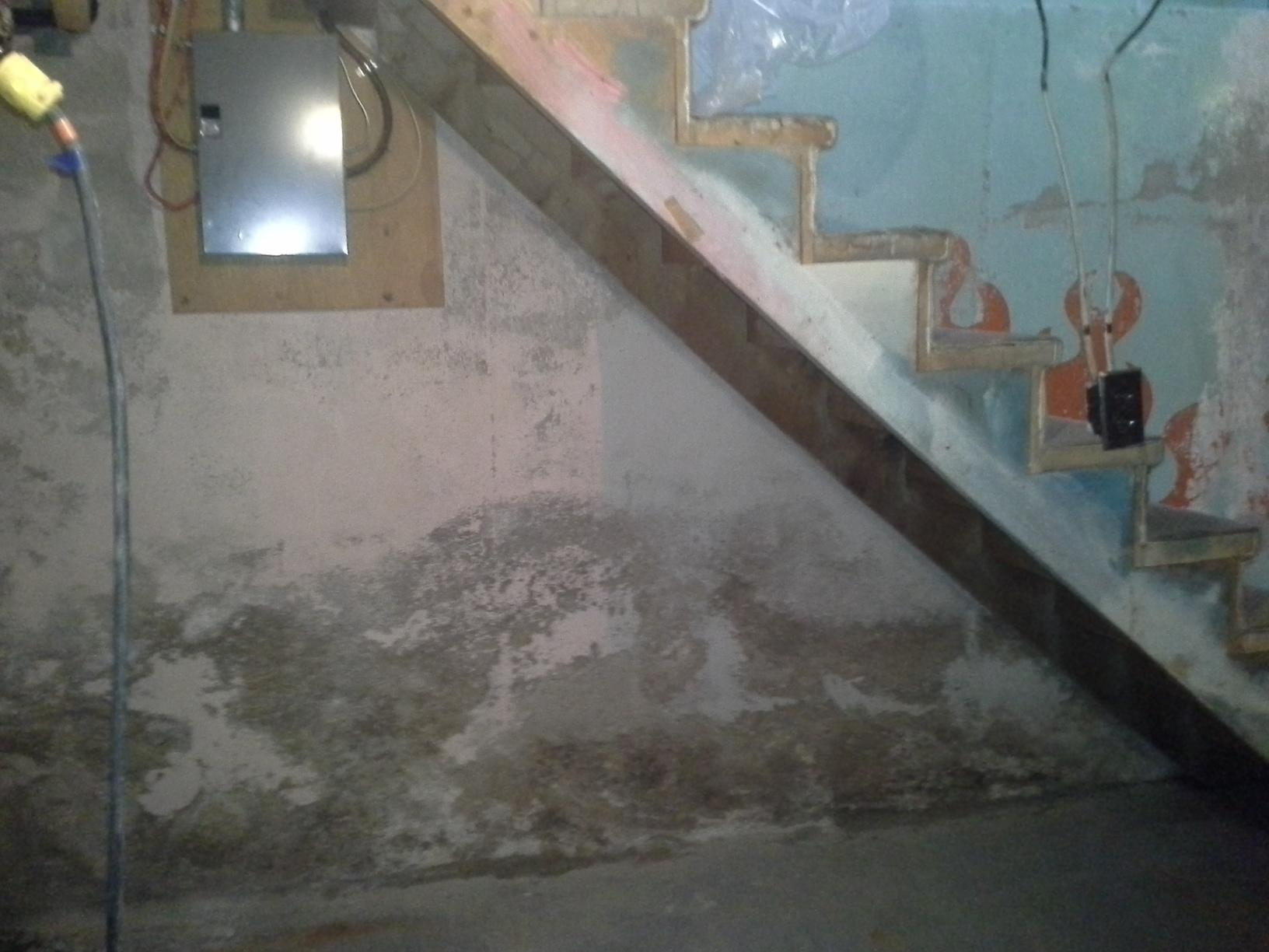 Flooding basement in Manville, AB - Before Photo