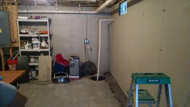Basement Finished in Seabrook, NH - Before Photo