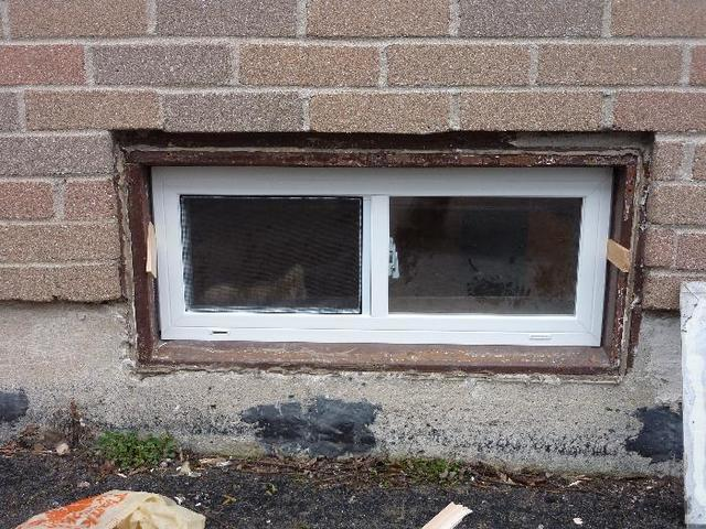 Boston basement window install