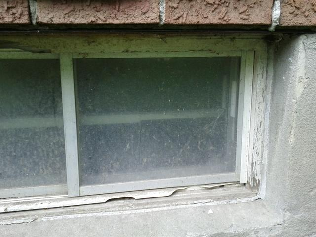 Everlast Basement Window Installed in Boston - Before Photo