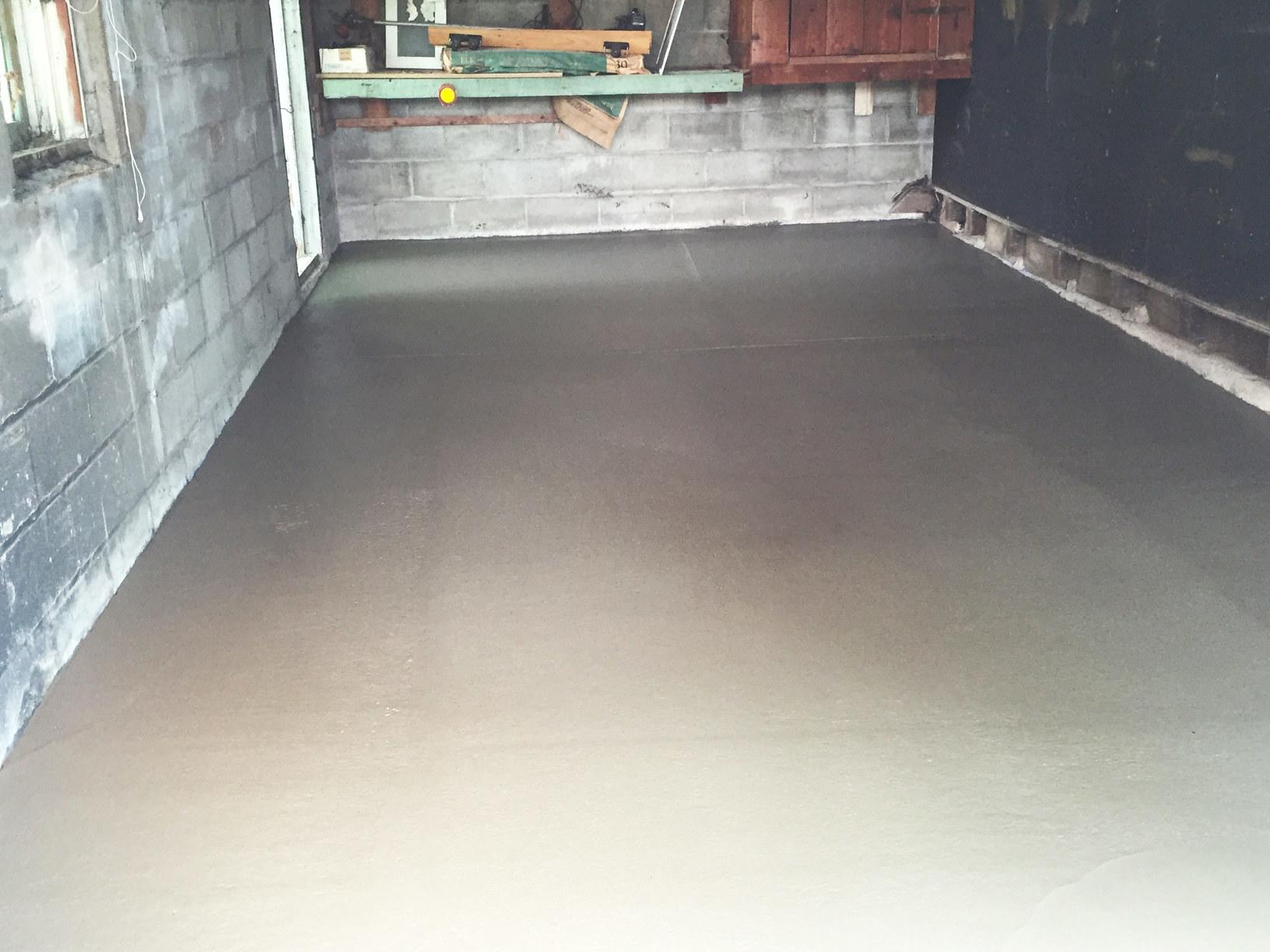 New Garage Floor - After Photo