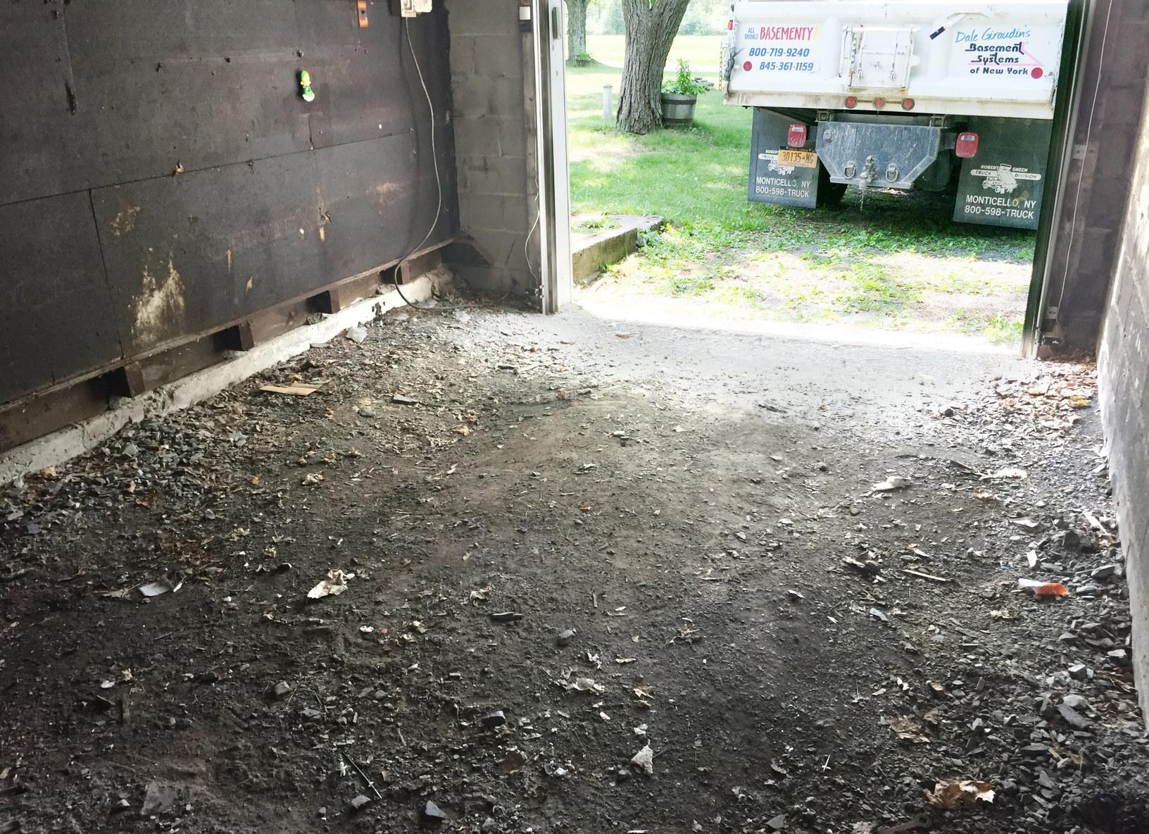 New Garage Floor 2 - Before Photo
