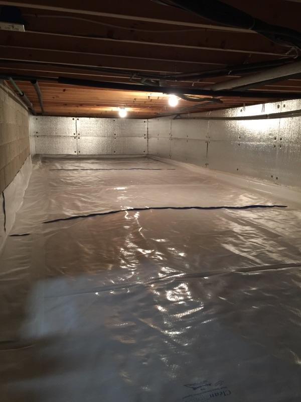 Milford PA CleanSpace and SilverGlo Crawlspace transformation! - After Photo