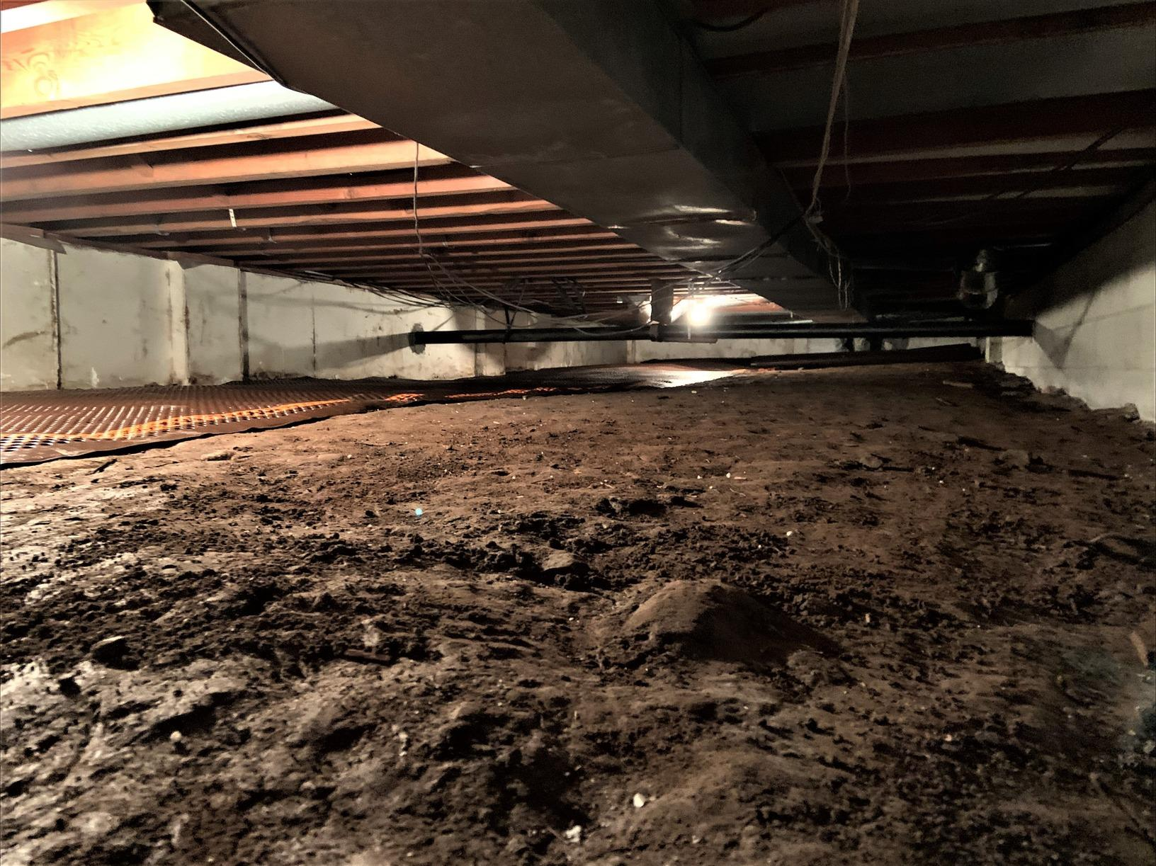 Installing CleanSpace In a Crawl Space With Closed-Cell Spray foam and SmartJacks - Neversink, NY - Before Photo