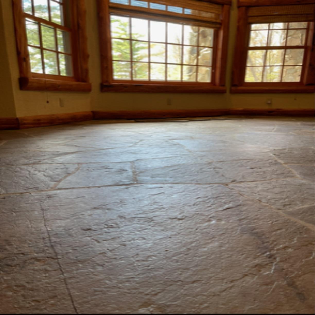 Lifting and Leveling Sunken Floors Due To Poor Compaction With PolyLevel - White Lake, NY - After Photo