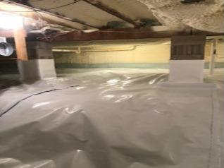 Reducing Radon Levels With Our Radon Mitigation System And CleanSpace Vapor Barrier - Milford, PA - After Photo