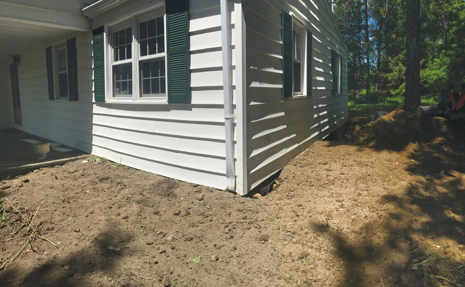New Foundation & Drainage Line - After Photo