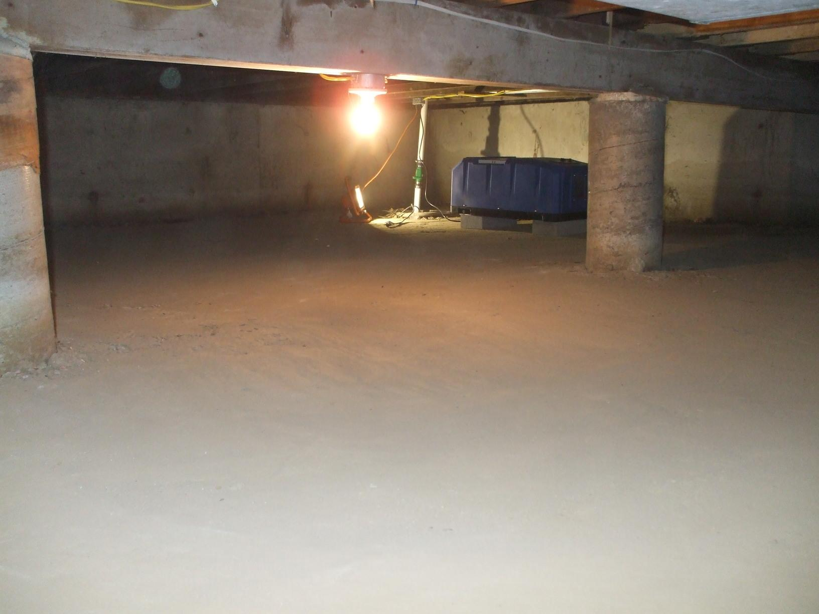 Nyack Crawlspace transformation and dehumidifier instillation - After Photo