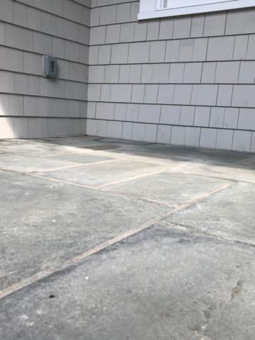 Raising a concrete patio with the help of PolyLevel - Englewood, NJ - After Photo