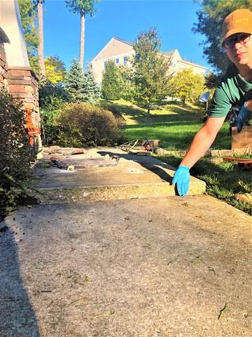 Lifting A Sidewalk Slab With The Help of PolyLevel - Middletown, NY