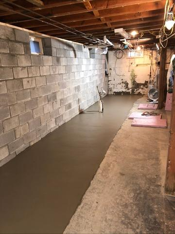 Installing A New Block Wall & Pouring A New Floor - Highland, NY
