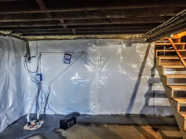 A New Wall With A Waterproofing System - Wallkill, NY