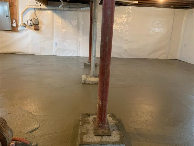 Installing a New Slab With Clean Space - Walden, NY